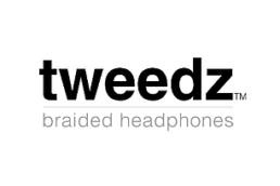 tweedz braided headphones logo