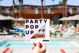 party pop up ad for free event over the weekend