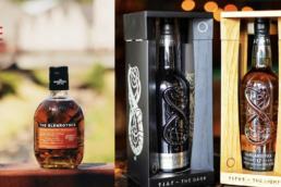 the glenrothes bottle and highland park bottles showcased