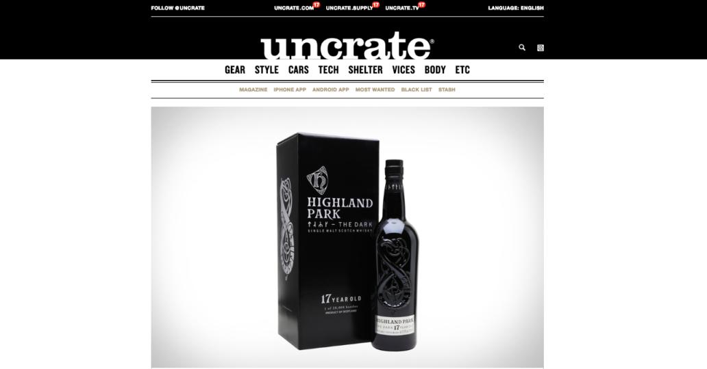 Uncrate Unpacks The Dark – FORTE MARE