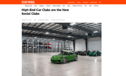 gear patrol features Otto car club and shows off their garage
