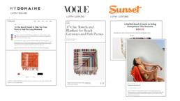 my domaine, vogue, and sunset magazine feature mayde towels