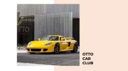 picture of a yellow car outside Otto car club