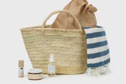 mayde beach towel in bag