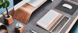 grovemade items laid out on desk shoot