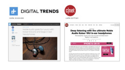 c net and digital trends features the noble audio earbuds