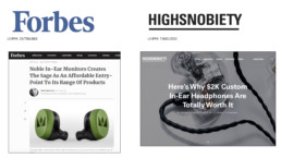 Forbes and highs nobiety feautures the noble audio ear bud