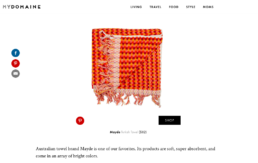 my domaine features mayde beach towel