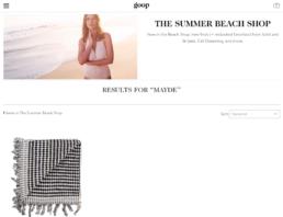 goop features mayde beach towel
