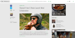 the Manuel features Shwood Moto collaboration