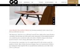 GQ features disommons car coffee table
