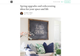 mayde towel featured in home article