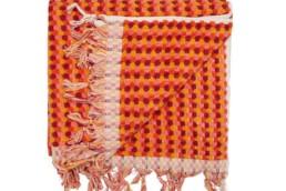 mayde towel orange and red