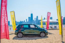 fiat car on the beach