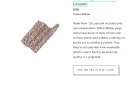 yellow willow yoga mat on internet