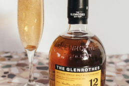 the glenrothes bottle next o empty glass