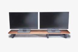 two monitors on grovemades monitor stand