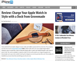 iPhone life features grovemade charger pad