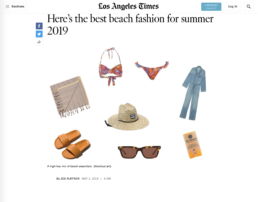 Los Angeles time features mayde towel
