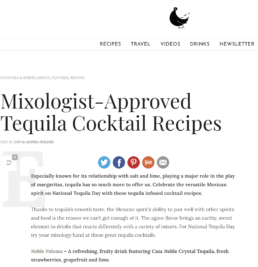 mixologist features nosotros tequila blood and sand drink