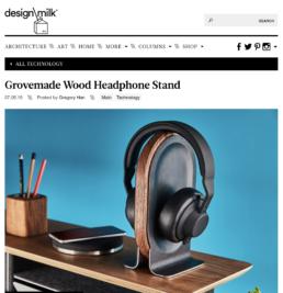 design milk features grovemade headphone stand