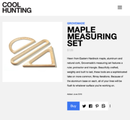 cool hunting features grovemade measuring kit