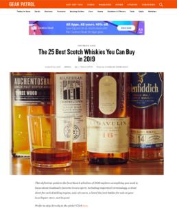Gear Patrol Top 25 Best Scotch Whiskies of 2019