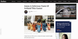 Forbes Easter article featuring Omnom Easter chocolate